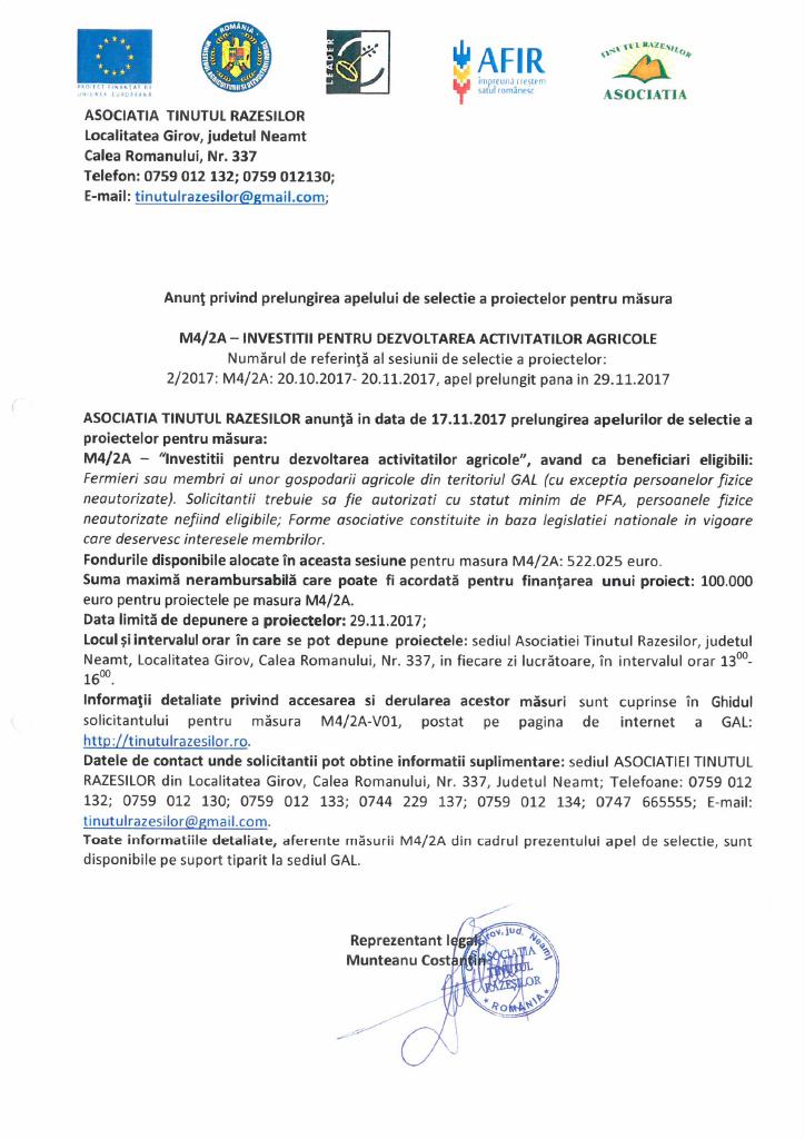 Prelungire apel Masura M4_2A_nov 2017