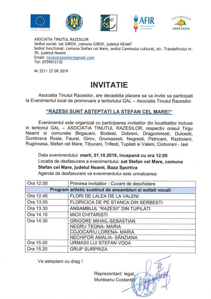 Invitatie 01.10.2019